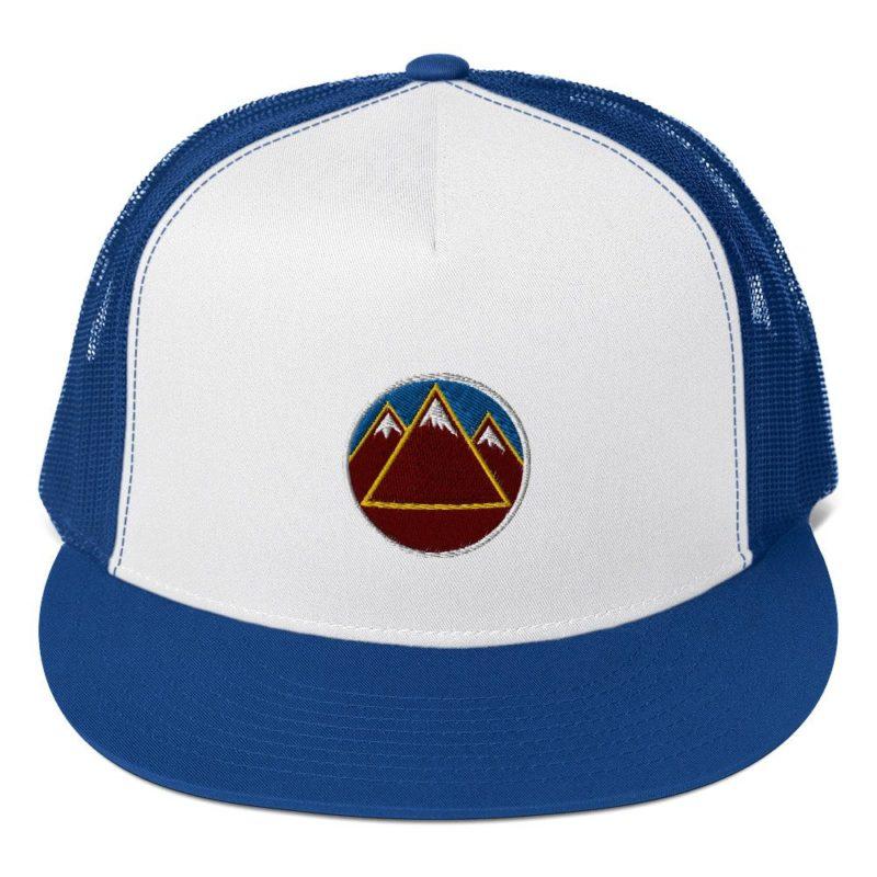 Mountains Blue Sky Trucker Snapback Cap
