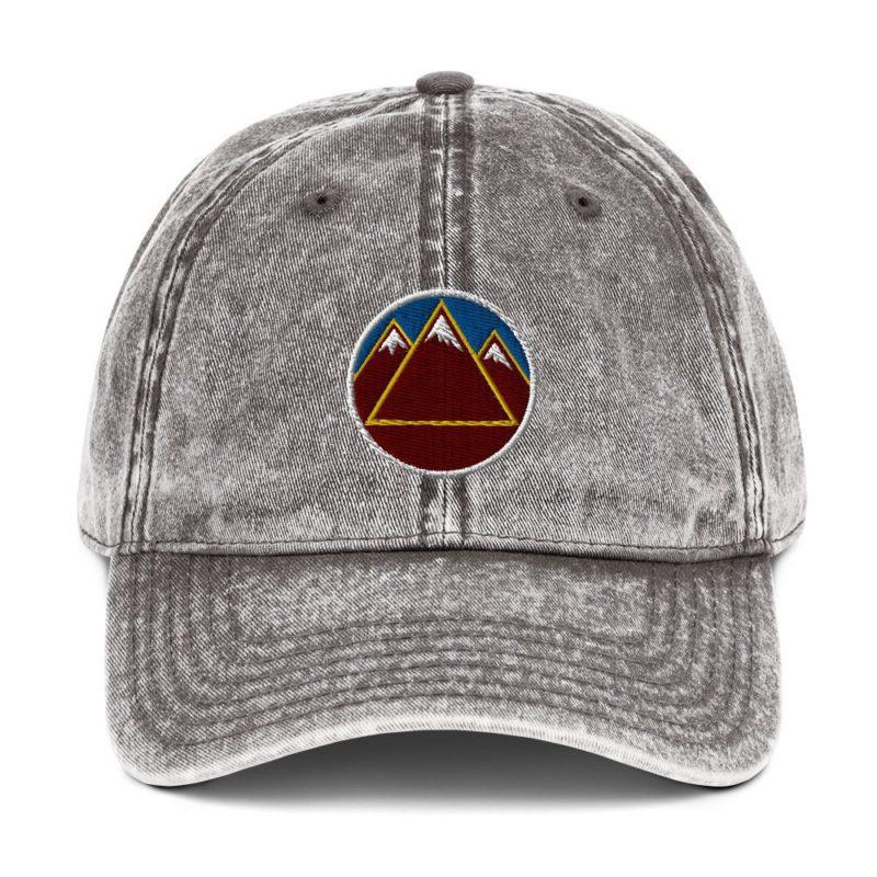 Mountains Blue Sky Vintage Cotton Twill Cap