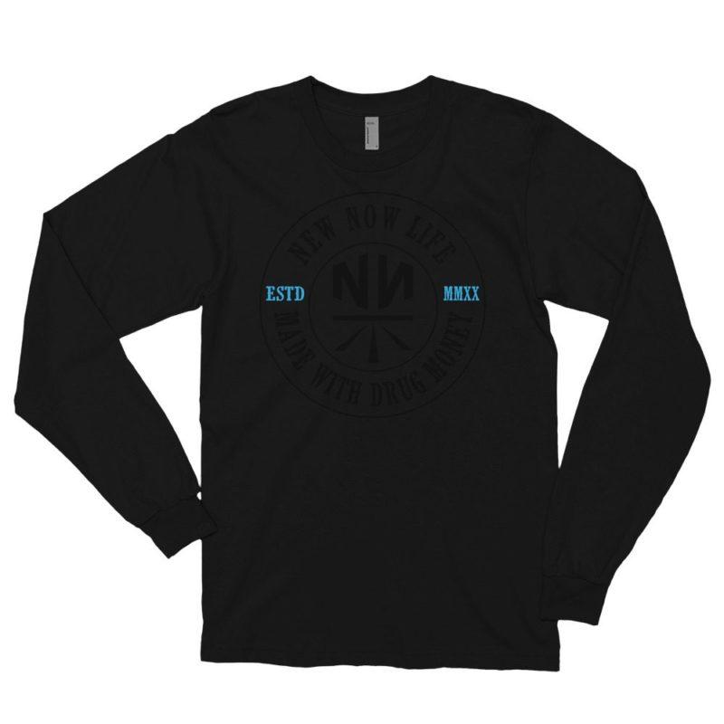 New Now Drug Money Long Sleeve DRK T-Shirt