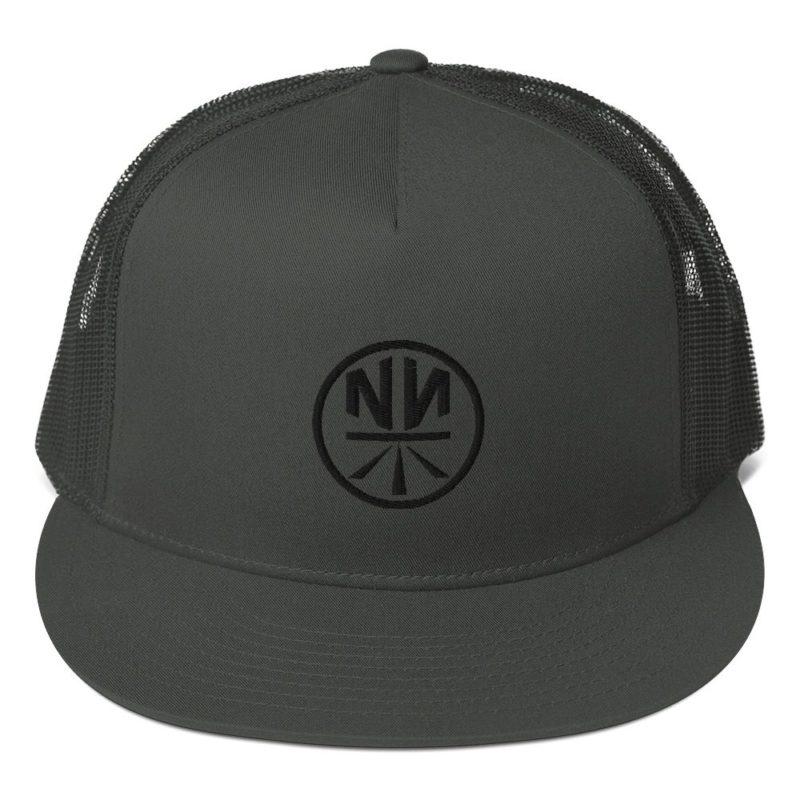 New Now Logo Circled 5 Panel Trucker Cap