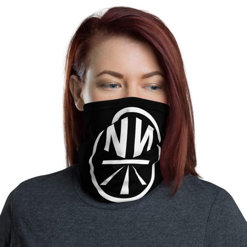 New Now Logo Circled Black Neck Gaiter (Mask)