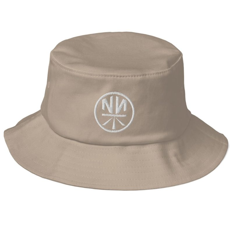 New Now Logo Circled Dark Old School Bucket Hat