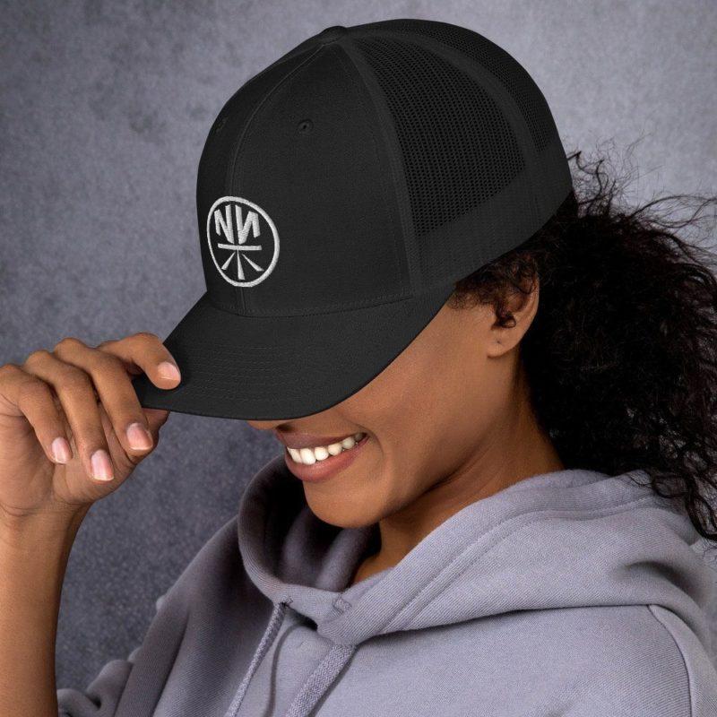 New Now Logo Circled Dark Trucker Cap