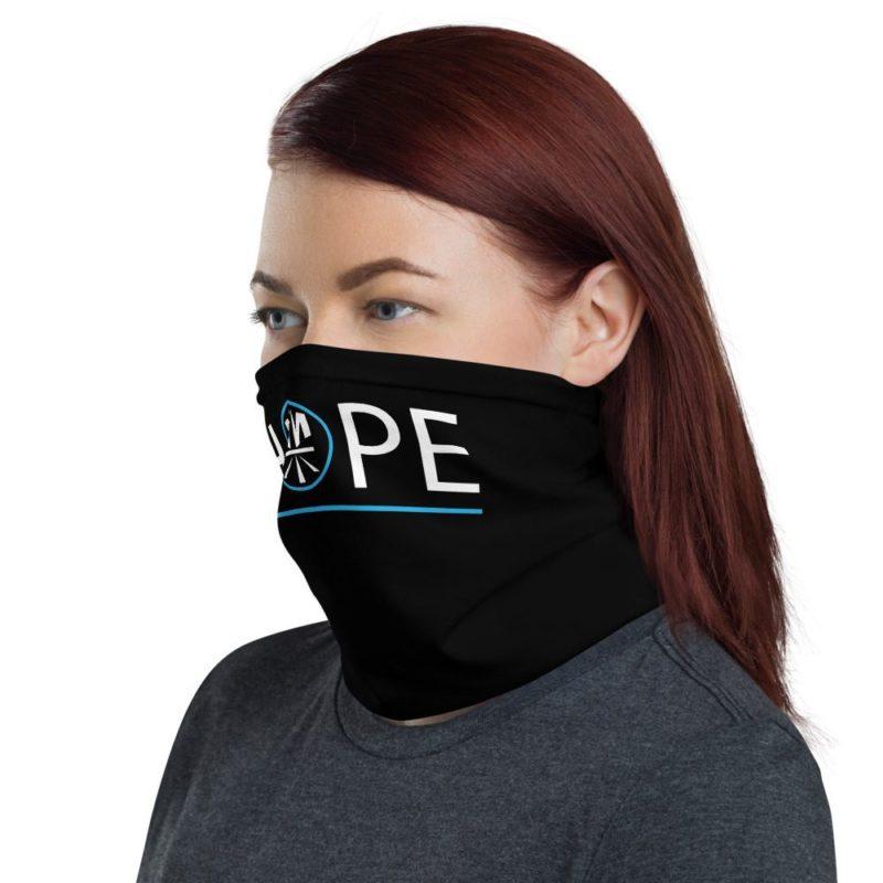 New Now Logo Circled Hope Black Neck Gaiter (Mask)
