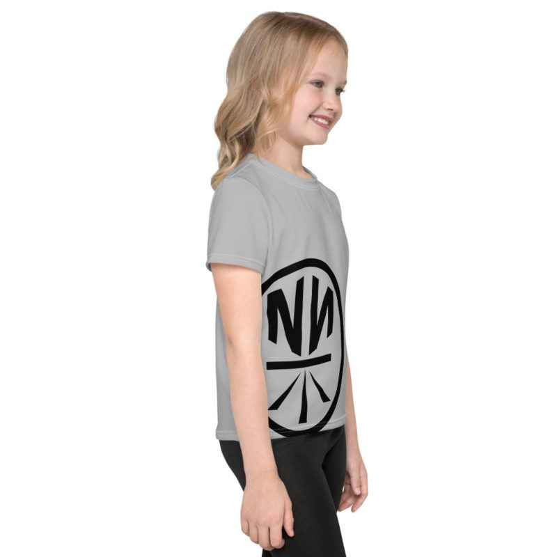 New Now Logo Circled Huge Offset Kids T-Shirt