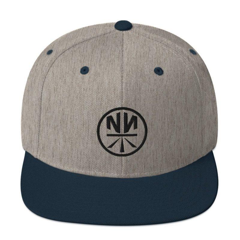 New Now Logo Circled Light Yupoong Snapback Hat