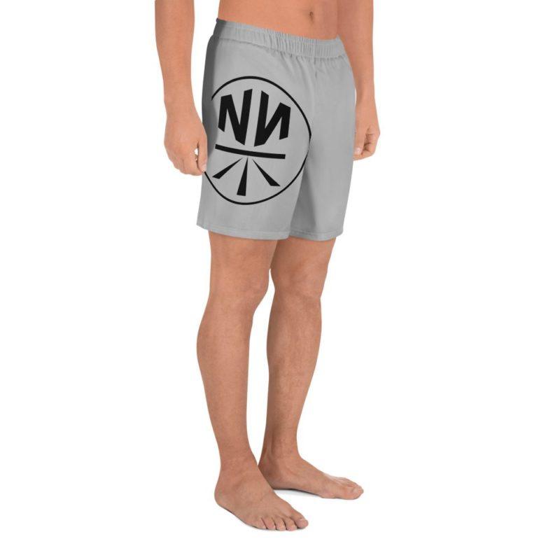 New Now Logo Circled Men's Athletic Long Shorts