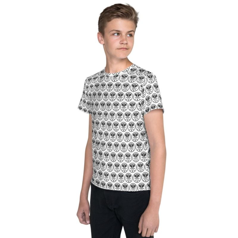 New Now Logo Circled Pattern Youth T-Shirt