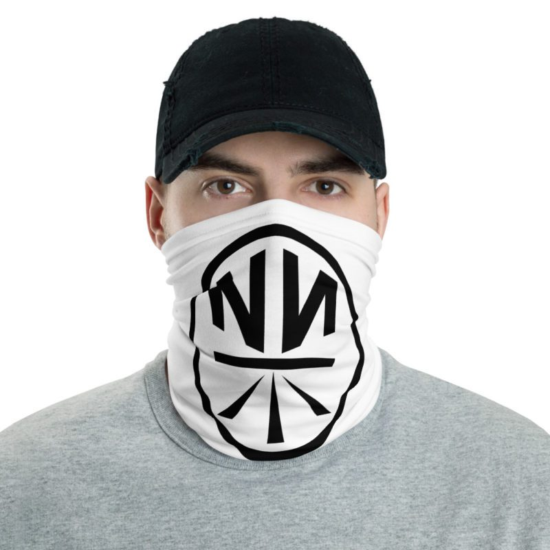 New Now Logo Circled White Neck Gaiter (Mask)