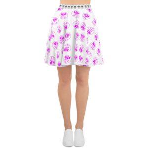 New Now Logo Pink Circled Skater Skirt