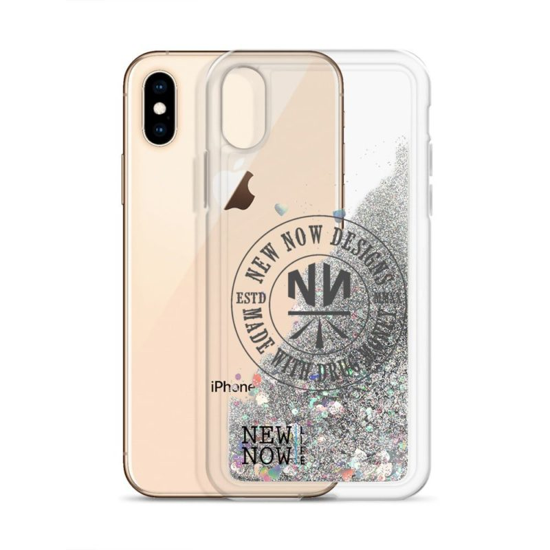 New Now Made With Drug Money Liquid Glitter iPhone Case