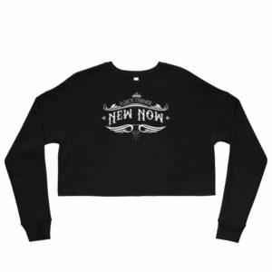 New Now Since Forever Dark Graf Crop Sweatshirt
