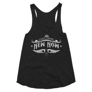 New Now Since Forever Dark Graf Women's Tri-Blend Racerback Tank