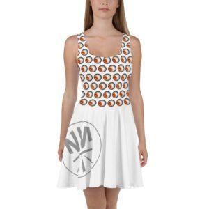 New Now Sunflower Pattern Skater Dress