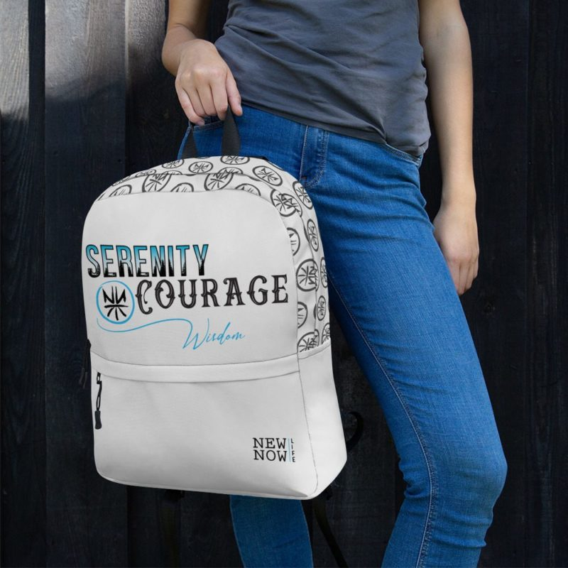 Serenity Prayer Abbr Light Trees Backpack