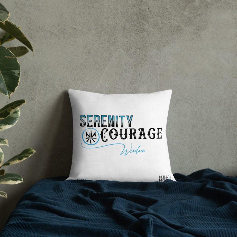 Serenity Prayer Abbr Premium Pillow