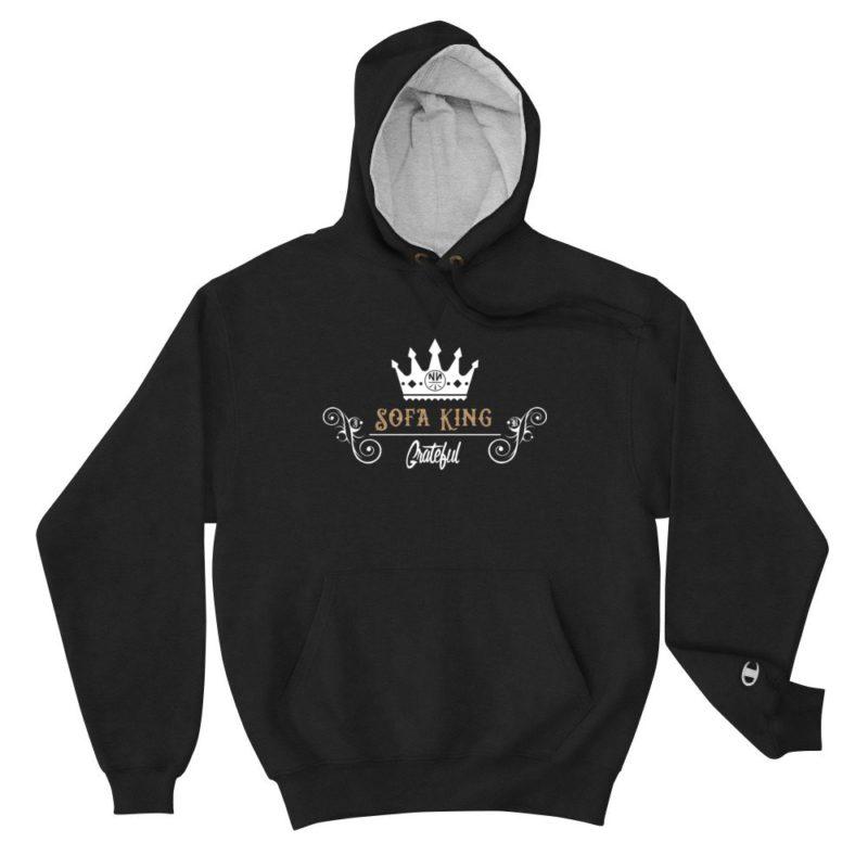 Sofa King Grateful Quality Champion Hoodie